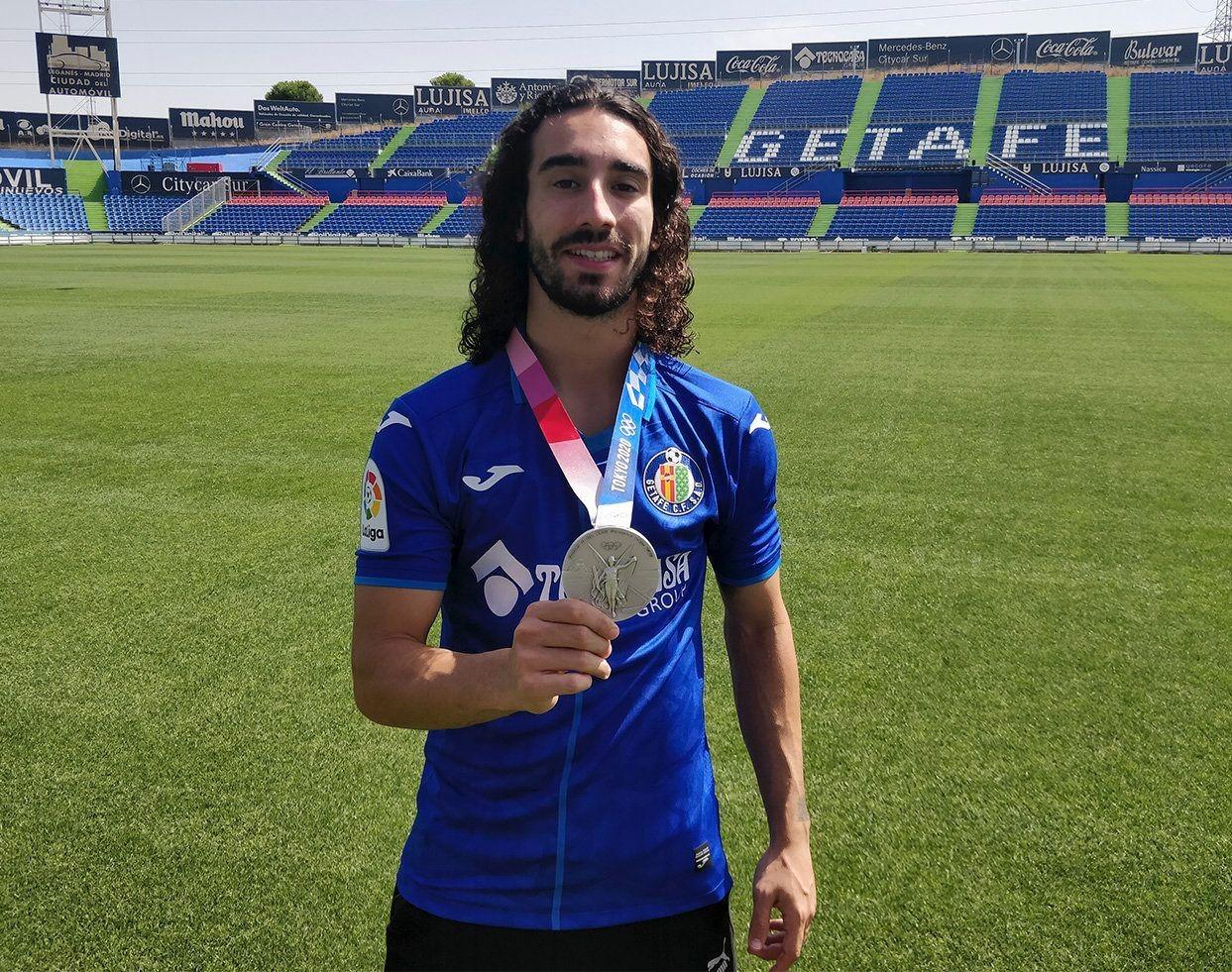 Brighton target Marc Cucurella back in training with Getafe