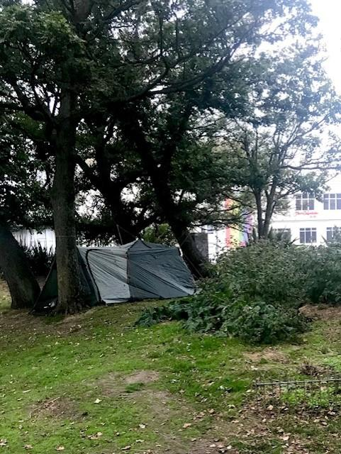 The Argus: The tent was reportedly pitched on the Old Steine on Monday