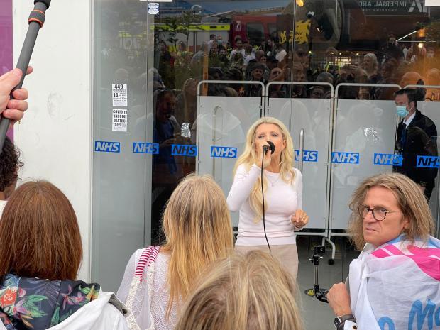 The Argus: Protests outside new Churchill Square Covid vaccine centre