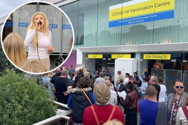 Protests outside new Churchill Square Covid vaccine centre