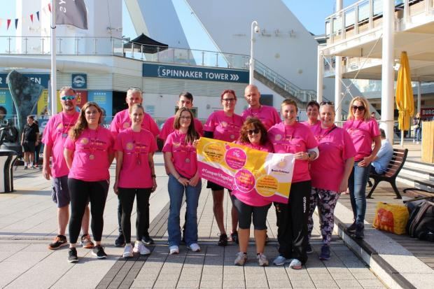The Argus: Team Wellerfest at the Spinnaker Tower in Portsmouth.