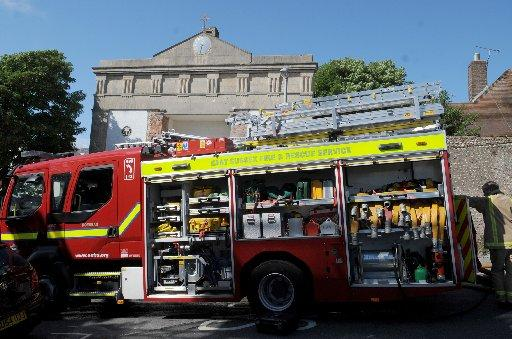 Brighton church damaged by fire