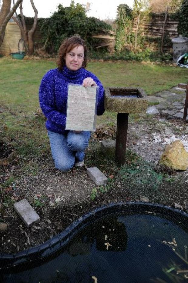LOOK INTO THE PAST: Jill Elliott with the time capsule