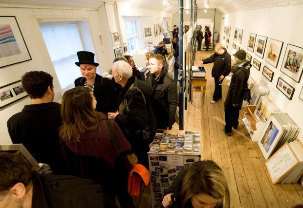 Busy: North Laine Photography Gallery on its final day.