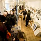 Busy: North Laine Photography Gallery on its final day