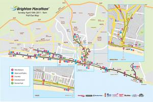 The Argus: Course map for Brighton Marathon 2011