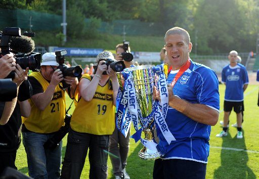 Adam El-Abd with the League One trophy
