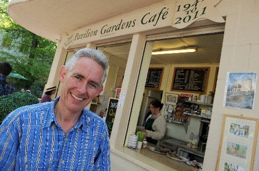 David Sewell, owner of the Pavilion Gardens Café. Photo by Tony Wood.