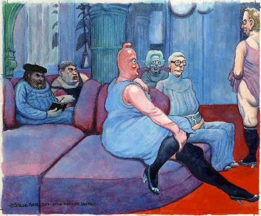 One of Steve Bell's famous cartoons