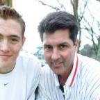 Driving force: Billy Hungrecker pictured in 2002 with Andy Smith, a young player with whom he worked closely