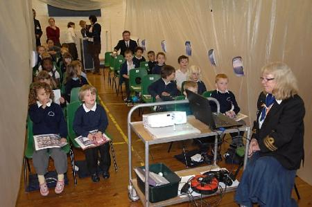 Children at Coombe Road Primary School in Brighton held an Airport Day with children from different classes adopting different countries.