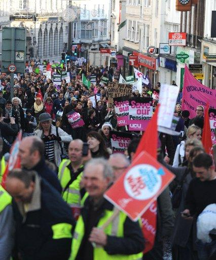 Public sector workers gathered at picket lines in Brighton, Hove and Worthing, as part of national strike action on November 30