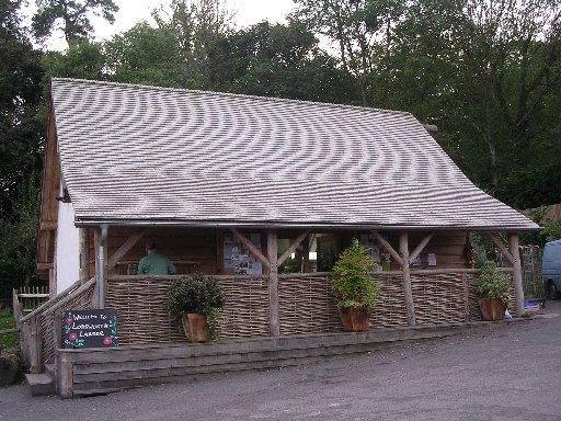 The Lodsworth Larder, the community shop constructed from locally grown sweet chestnut wood