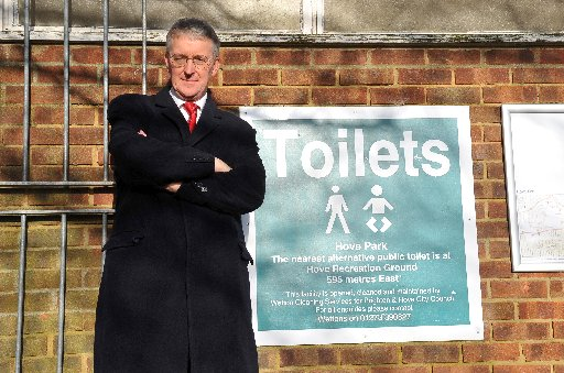 Hilary Benn MP Labours Shadow Secretary of State for Communities and Local Government supporting LOLA. Labours 'Leave Our Loos Alone' campaign.