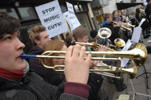 The Argus: Young musicians busking in Churchill Square