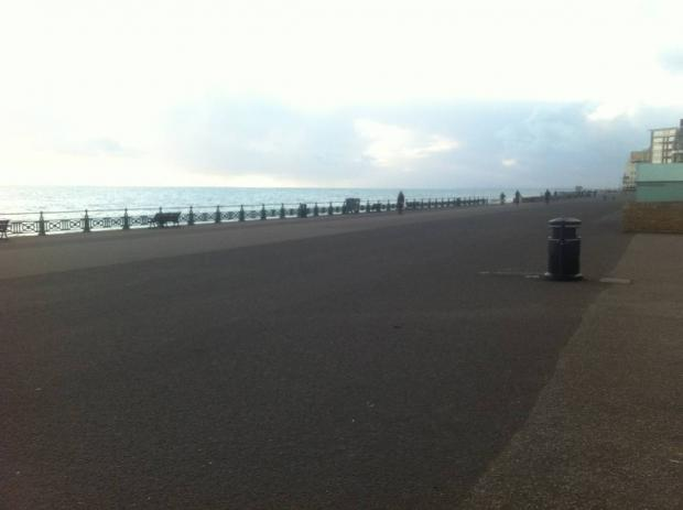 The seafront stretch in question is argued to be more than wide enough to become a shared space.