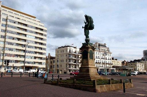 The Peace Statue at the border of Brighton and Hove