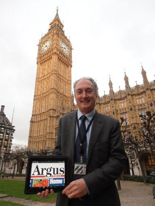 Hove MP Mike Weatherley keeps up with the news from Brighton and Hove via his iPad