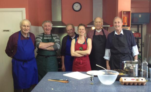 The Old Spice group with Gina Kawecka from the Brighton & Hove Food Partnership.