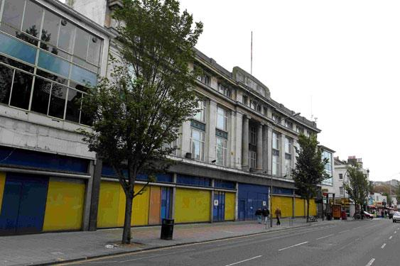 The former London Road Co-op looks set to be student flats