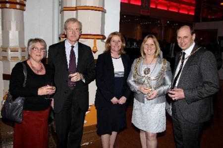 Lord Lieutenant Peter Field and wife Margaret, Amanda Jones, Mayor Anne Meadows and Consort Tony Meadows.