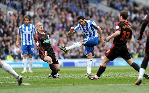 No deal: Albion have been unable to agree a new contract with Vicente