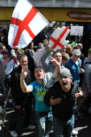 NICE: Demonstrators on yesterday's March for England