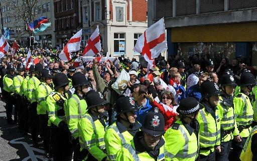 Last year's March for England began down Queen's Road