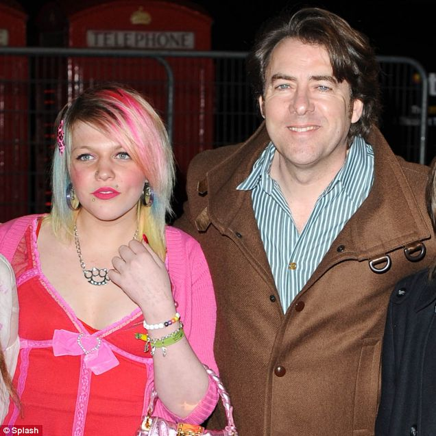 Popular British television personality Jonathan Ross with her lesbian daughter Betty Kitten