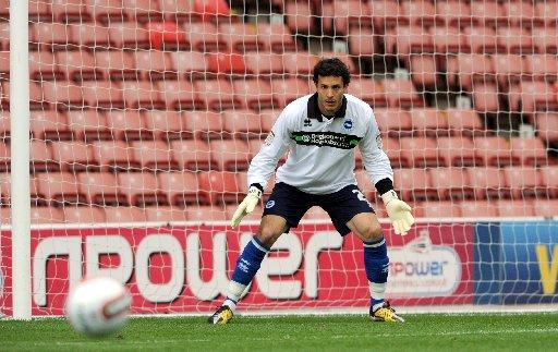 Clean sheet: David Gonzalez in action at Barnsley