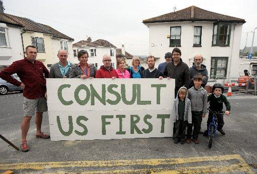 Howard Road residents claim Brighton and Hove City Council did not consult them about the bike racks
