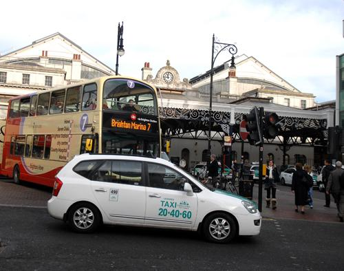 Proposals will see taxis moved away from the front of Brighton Station to Frederick Place