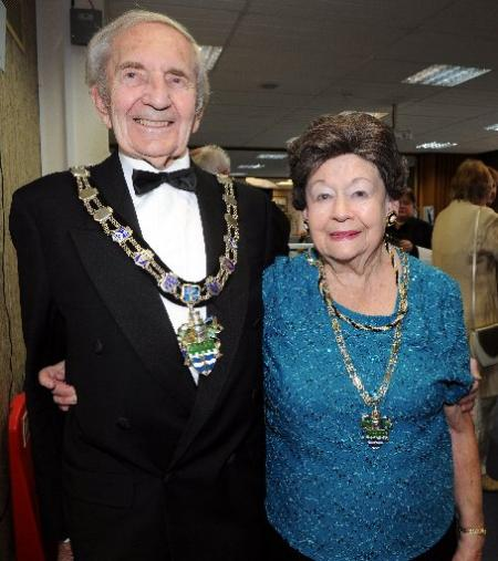 Arun District Council chairman Coun Dennis Wilde and Enfys Wilde