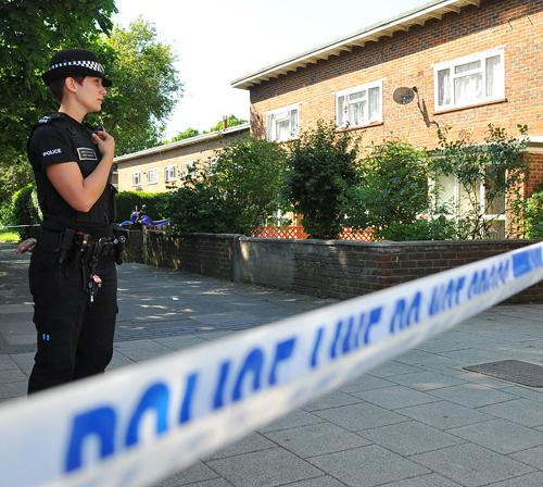 ATTACK: The scene at Northgate Parade in Crawley following the stabbing
