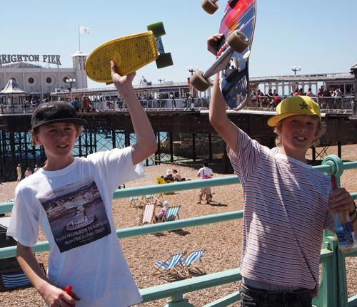 FINISH: Louis and Lozz at the Palace Pier