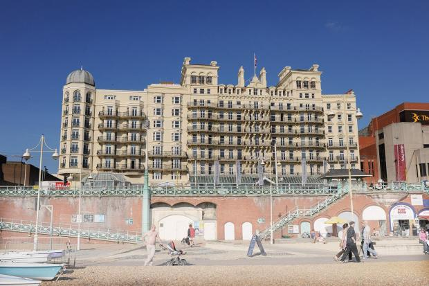 Grand dame: Brighton's most famous hotel  is to go on the market for around £55 million