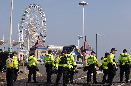 Day of protest over as nationalists leave Brighton