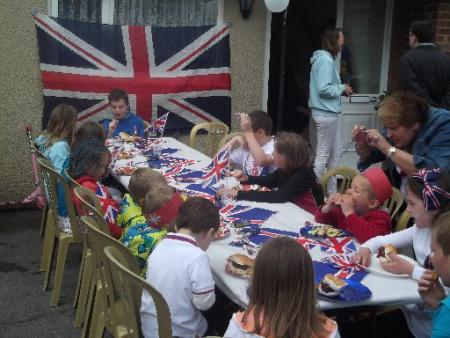 Children enjoying the Diamond Jubilee street party in North Close, Portslade