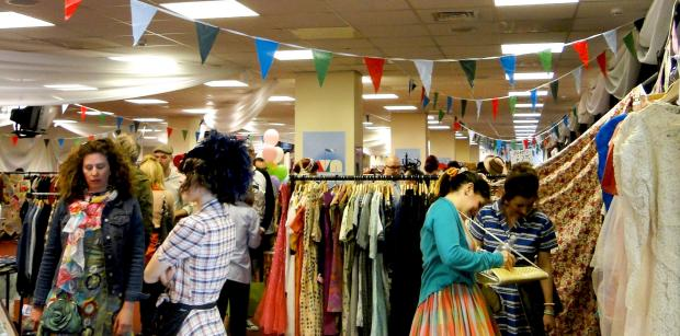 The market stalls at Vintage Nation
