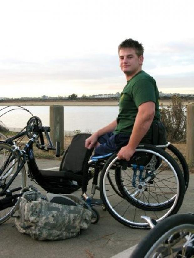 Soldier Joe Townsend is rasing money for Help for Heroes