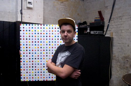 Artist Imbue in his studio