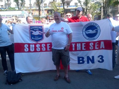 Albion fans in Kiev hopeful of an England victory