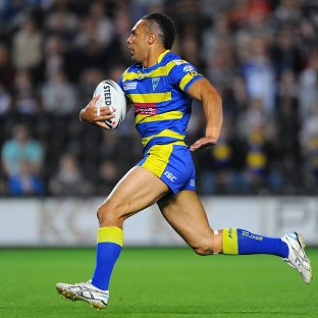 Ryan Atkins ran in three Warrington tries against Hull