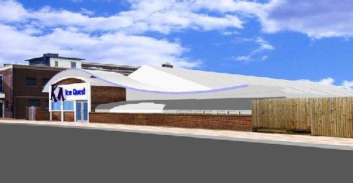 An artist's impression of the proposed ice rink King Alfred