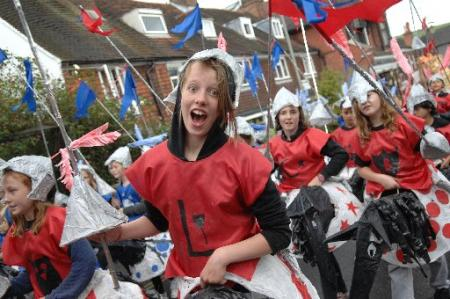 Hundreds of school children paraded through Lewes as they celebrate their final year in primary education.