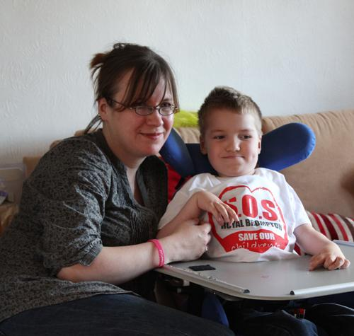FEARS: Susanna Nicholls and son Daniel