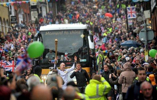 General pictures from the Olympic Torch Relay as it travels through Sussex.