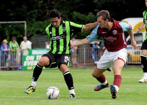Vicente in action against Hastings during pre-season