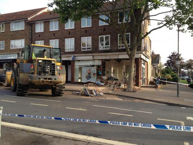 RAID: The scene of the incident this morning (picture by Tim Jeffery)