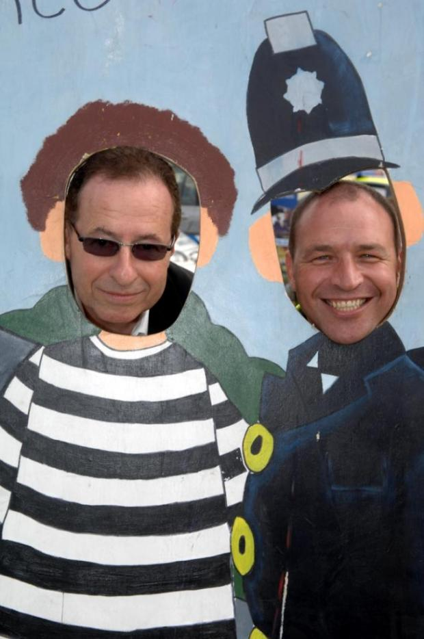 Crime author Peter James and Inspector Richard Delacour at last year's fun day